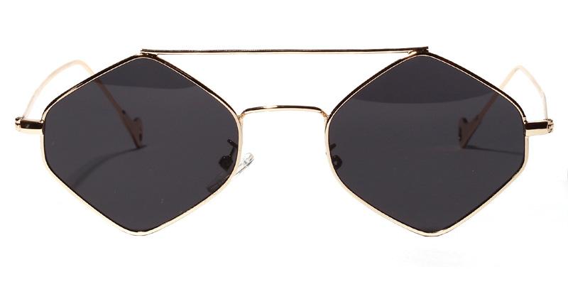 Tina Geometric Gold&Gray Sunglasses