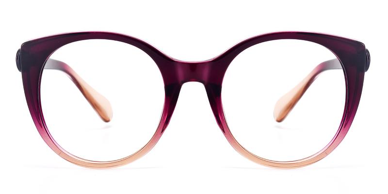 Kelsey Round Purple Frame
