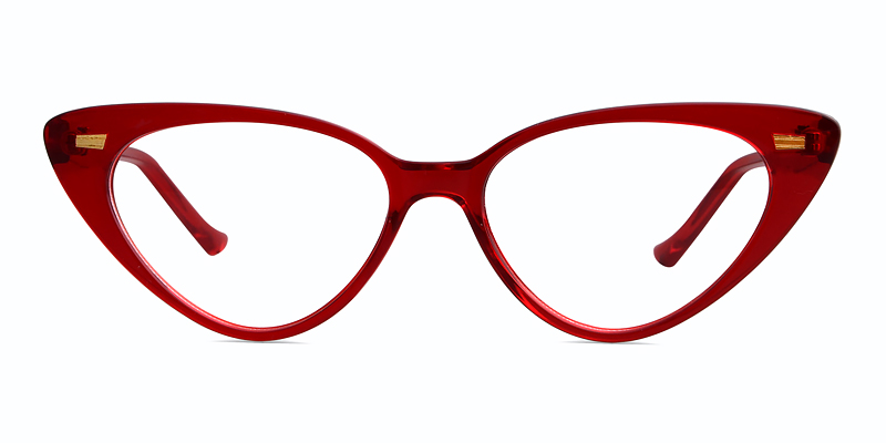 Leslie Cateye Red Frame