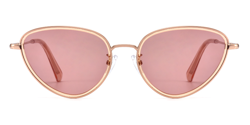 johana cateye pink sunglasses