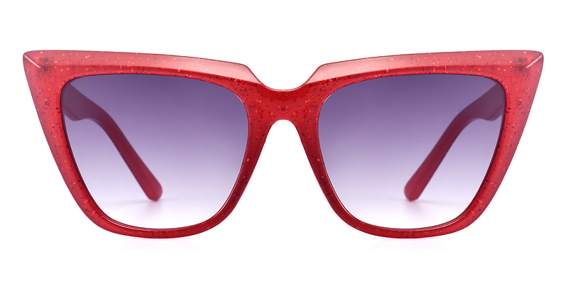 Tisheena Cateye Red Sunglasses