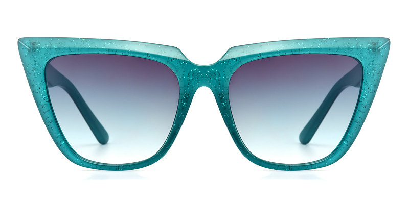 Tisheena Cateye Green Sunglasses