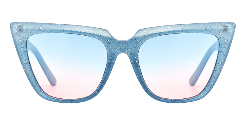 Tisheena Cateye Blue Sunglasses