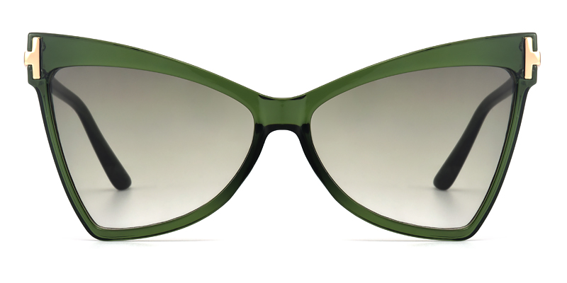Demetria Cateye Green Sunglasses