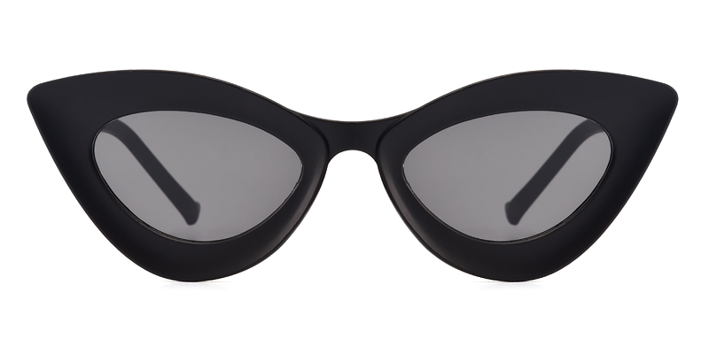 Yvonne Cateye Black Sunglasses