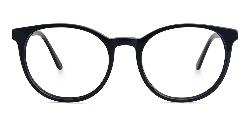 Peter Round Black Frame