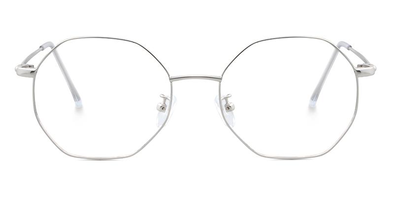Emely Geometric Silver Frame