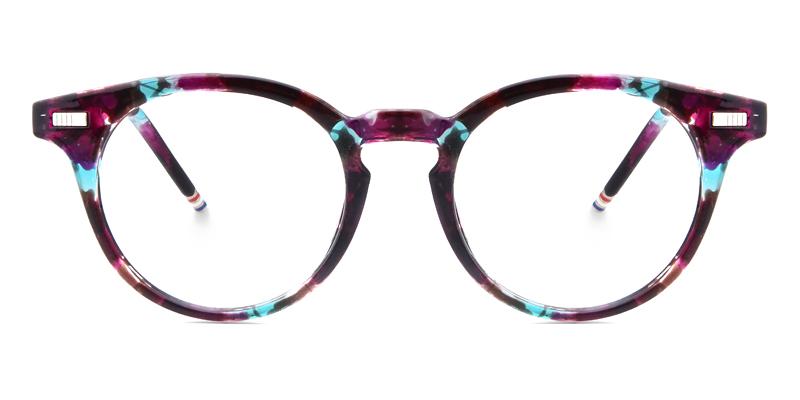 Marwa Round Purple Frame