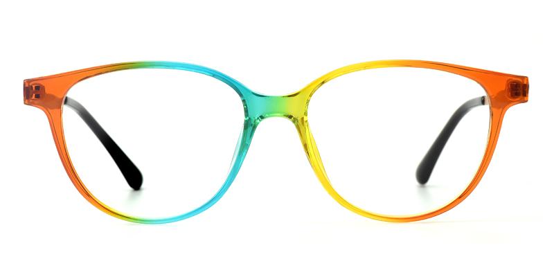 Yvette Round Multicolor Frame