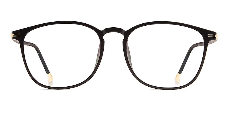 Benjamin Round Black/Golden Frame