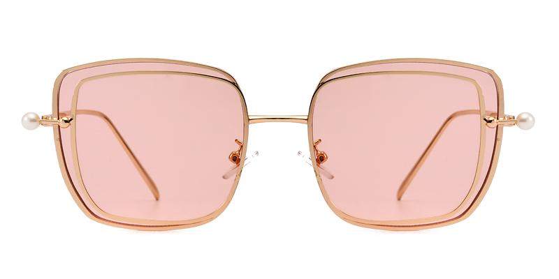 Joanna square gold&pink sunglasses