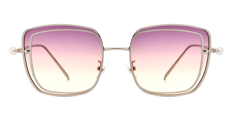 Joanna square silver&pink sunglasses