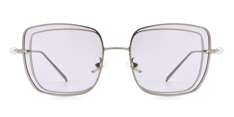 Joanna square silver&purple sunglasses