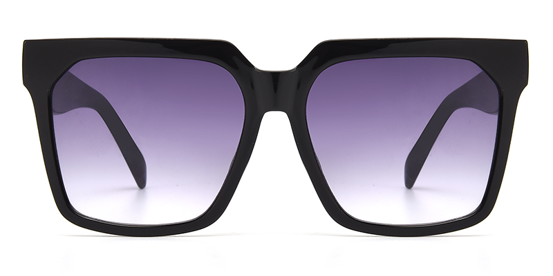 Brenda Square Black Sunglasses