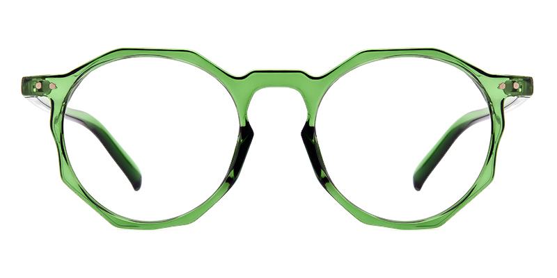Diana Round Green Frame