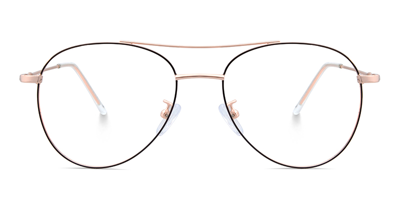 Patricia Aviator Rose Gold & Black Frame