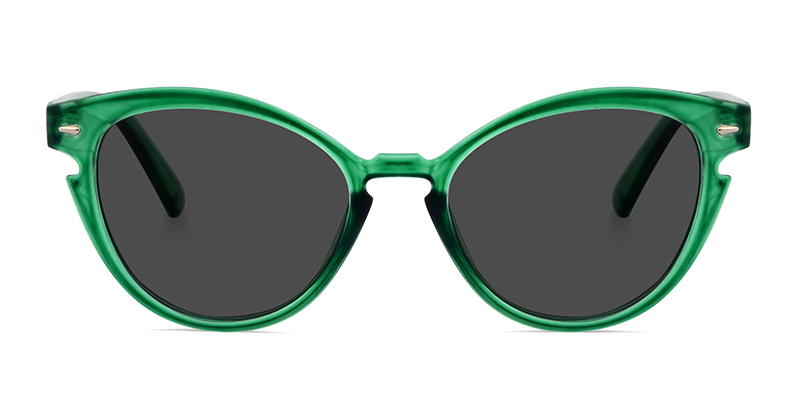 Barbara Cateye Green Sunglasses