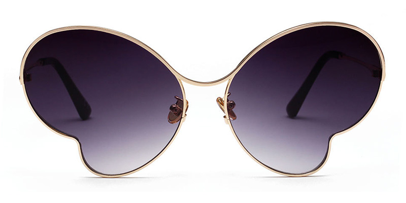Thelma Butterfly Gray Sunglasses