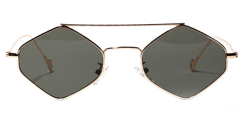 Tina Geometric Green Sunglasses