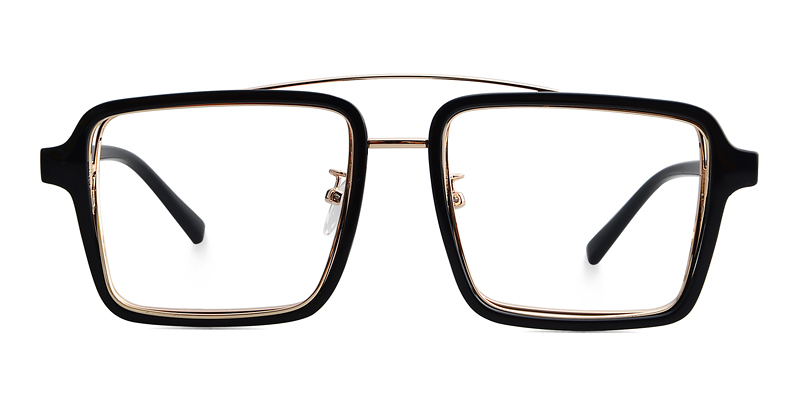 Eurus Aviator Black-Gold Frame