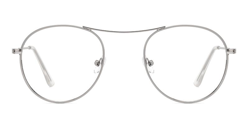 Yukiko Round Silver Frame