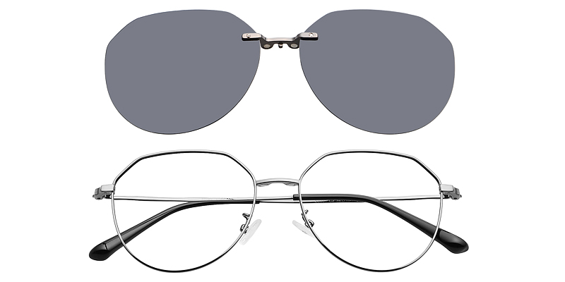 Ruby Geometric Magnetic Snap-On Glasses