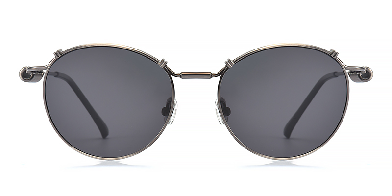Kayla Round Gray Sunglasses