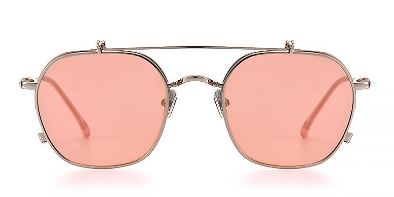 Dora Geometric Pink Sunglasses