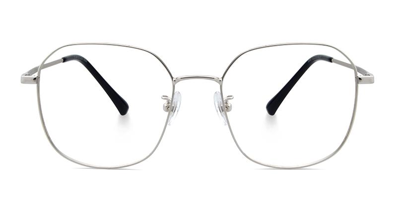Rakim Geometric Silver Frame