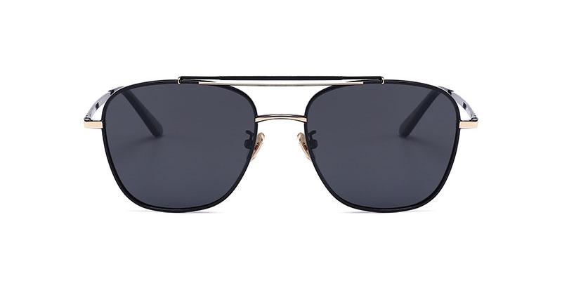 Kratos Aviator Black-Gold Sunglasses