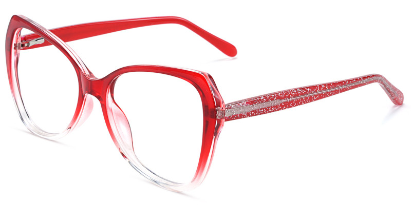 Butterfly Red Sparkle Frame