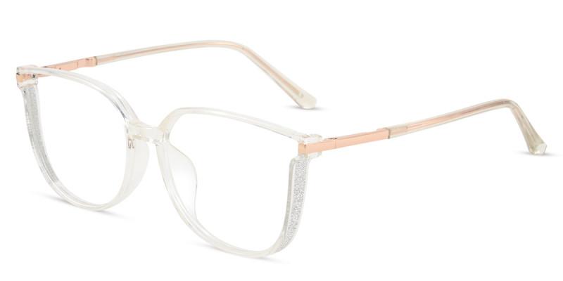 Cateye Clear Sparkle Frame