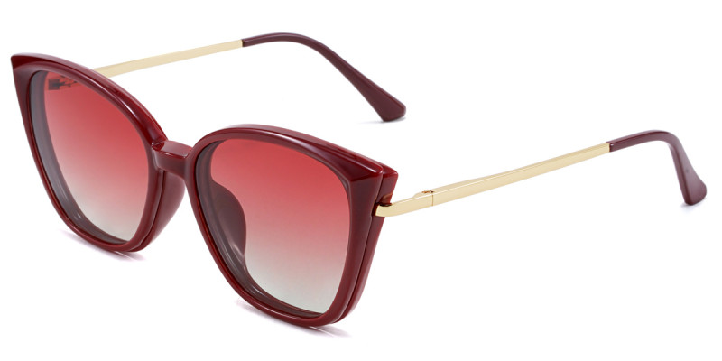 Cateye Red Magnetic Snap-On Frame