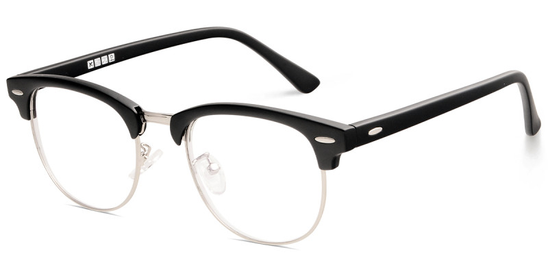 Browline Black/Silver Frame