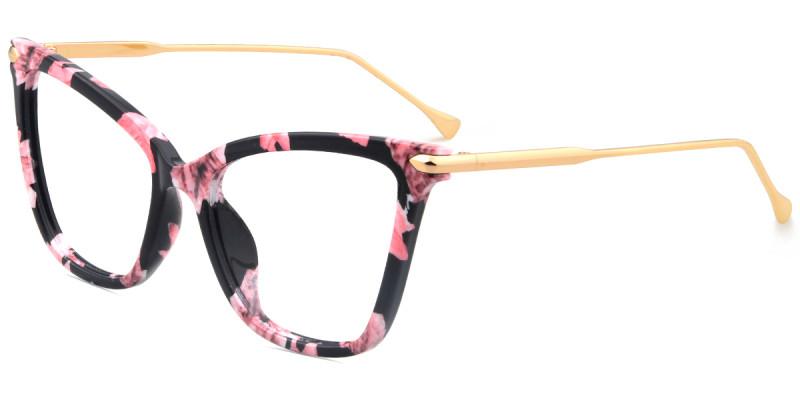 Cateye Floral Frame