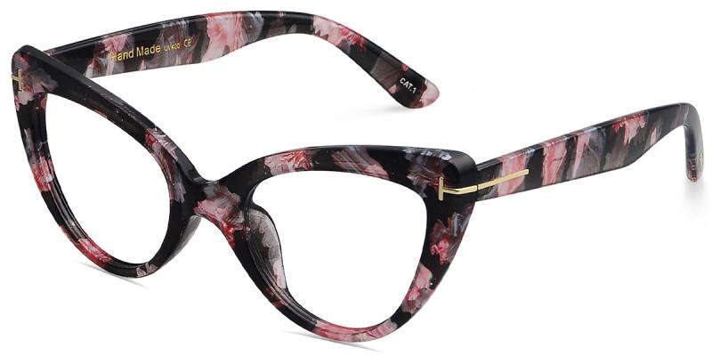 Cateye Floral Frame & Earring Set