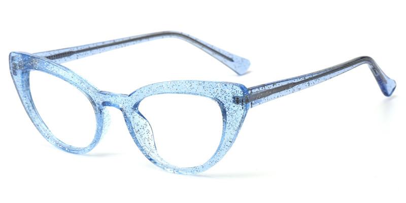 Cateye Blue Sparkle Frame