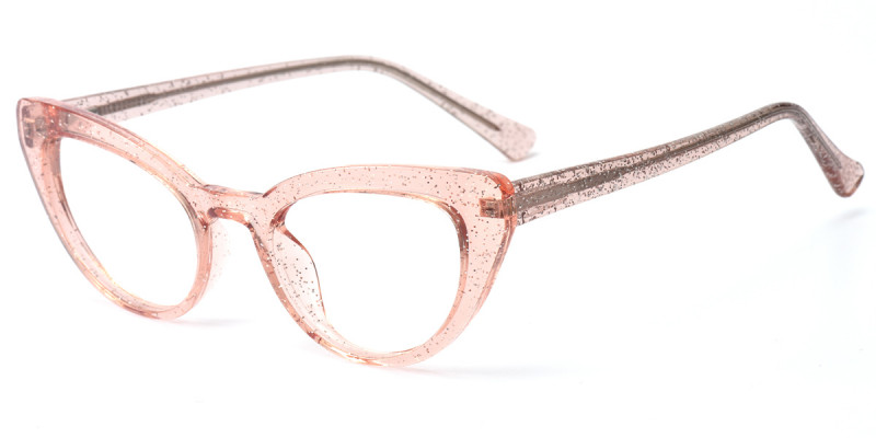 Cateye Pink Sparkle Frame