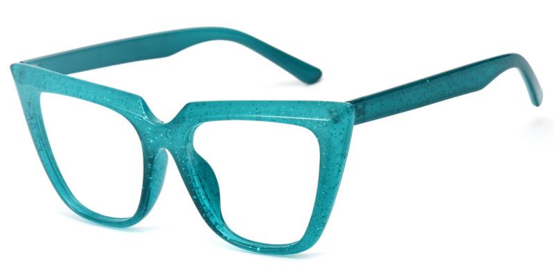 Cateye Green Sparkle Frame