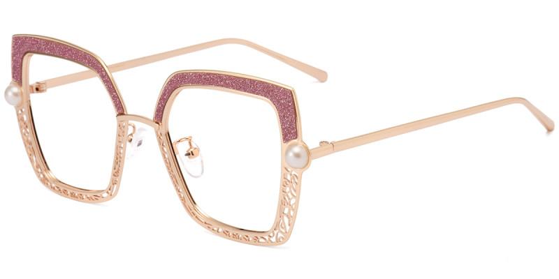 Square Pink Sparkle Frame