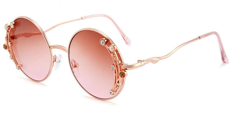 Round Pink Sunglasses