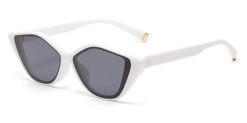 Cat Eye White Sunglasses