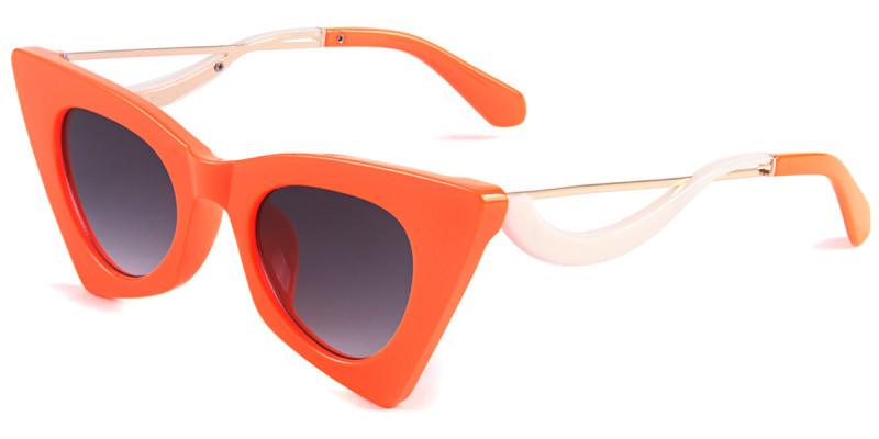 Cateye Orange Sunglasses