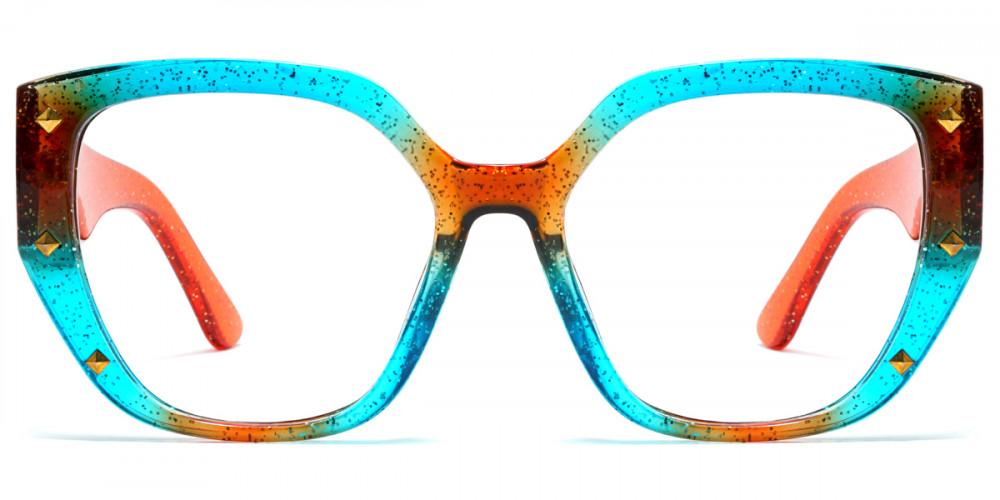 Geometric Blue Frame