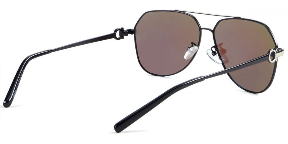 Zaida Aviator Gray Sunglasses