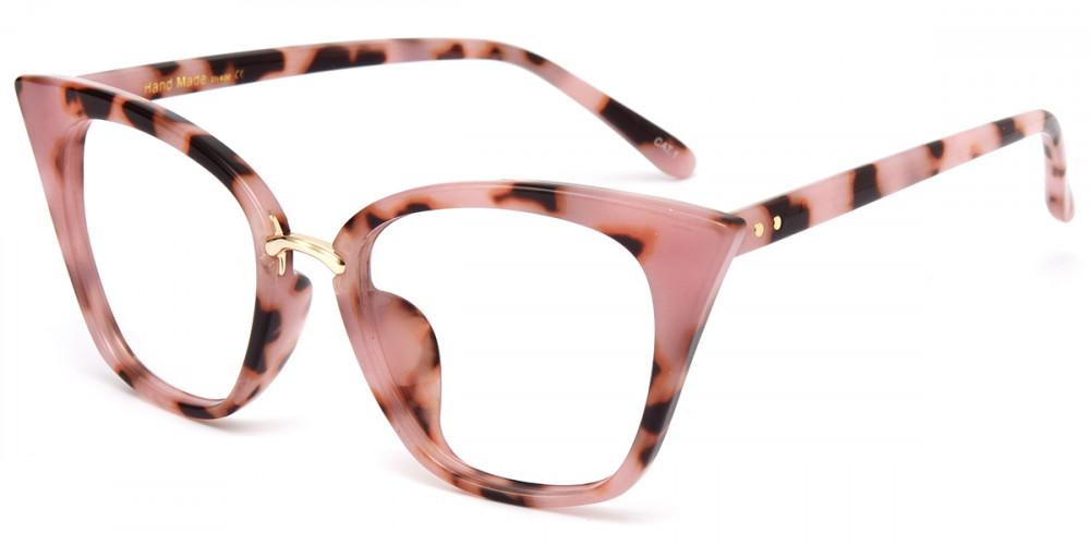 Cateye Pink Tortoise Frame