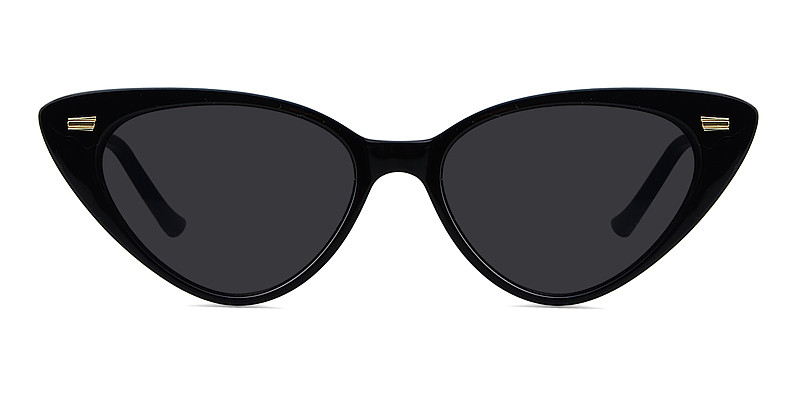 Valerie Cat Eye  Black Sunglasses