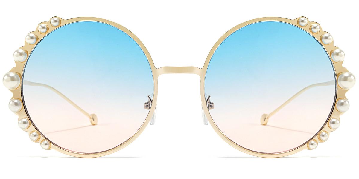 Round Blue Sunglasses