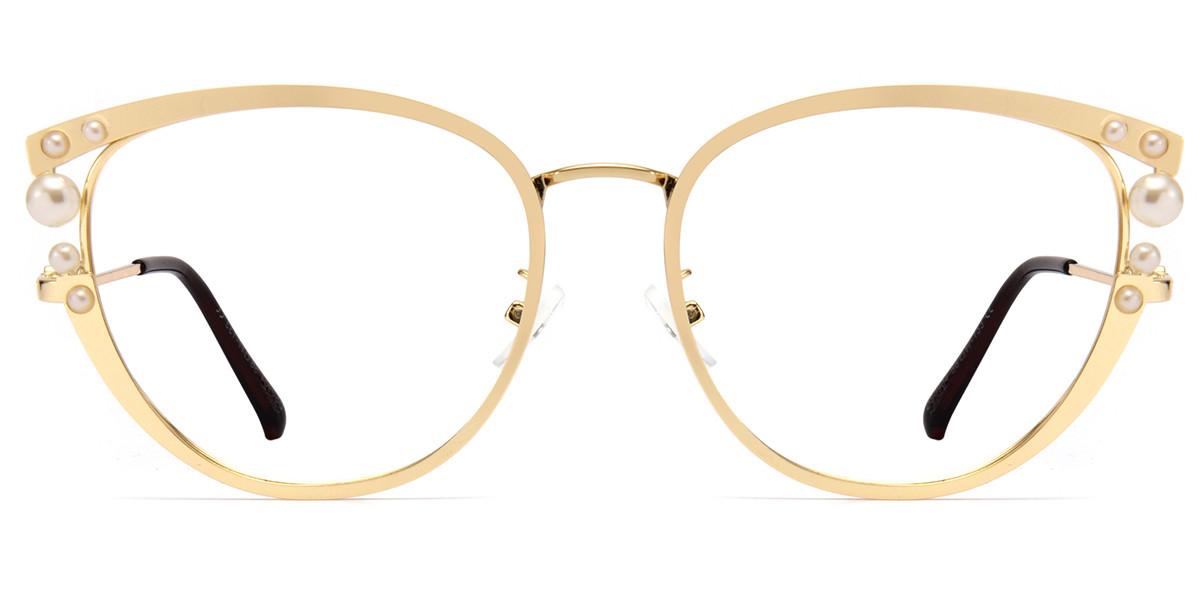 Cateye Gold Sparkle Frame