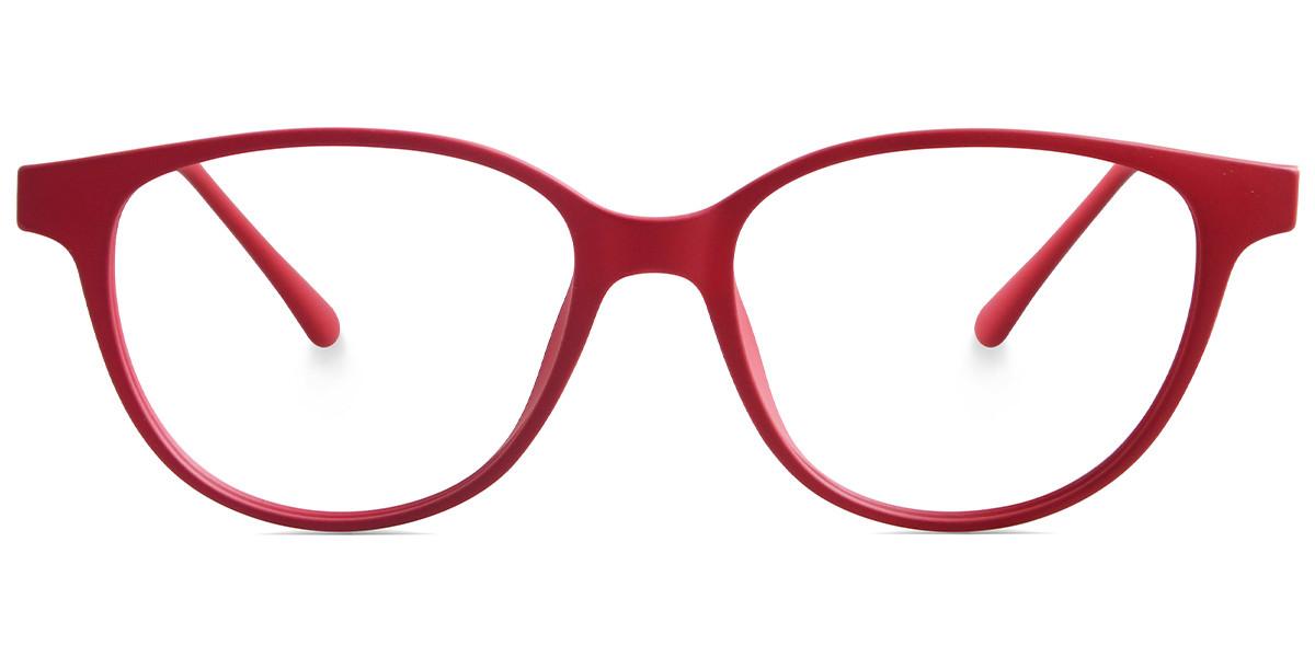 Round Red Frame